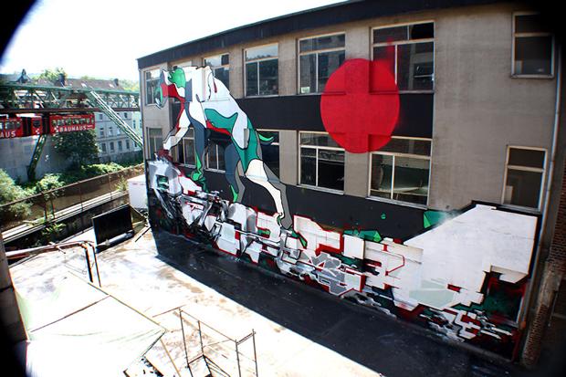 graffiti Felipe Pantone y Demsky en Alemania