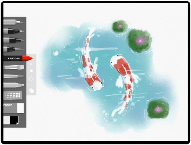 Tayasui Sketches, app para iPad
