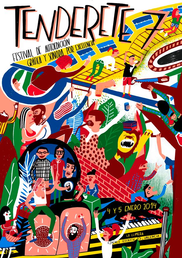 Tenderete 7, cartel Festival de autoedición gráfica y sonora por excelencia de Valencia