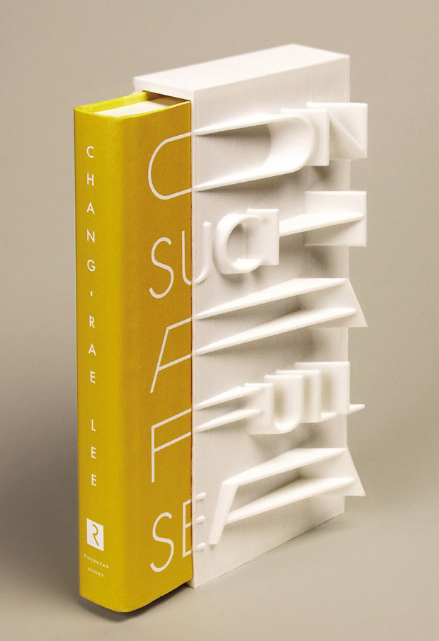 libros en 3D – diseño portada 'On such a full Sea', de Chang-rae Lee