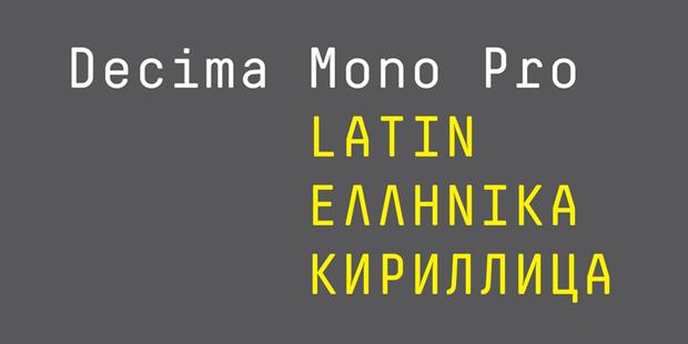 Decima Mono Pro, fuente geométrica y monoespaciada