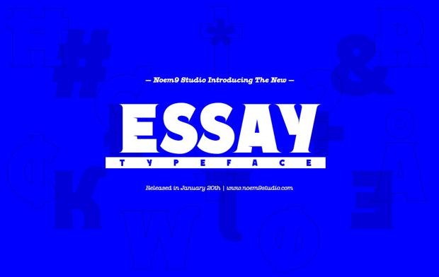 Essay, una tipo veloz y punk de Noem9 Studio