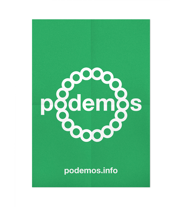 Podemos, cartel de Andrés Requena