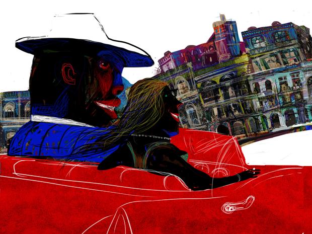 La noche triste de Chano Pozo, ilustración iBook por Ajubel
