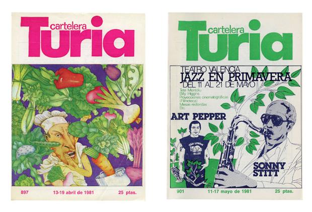 Cubiertas para Cartelera Turia – ilustrador Miguel Calatayud