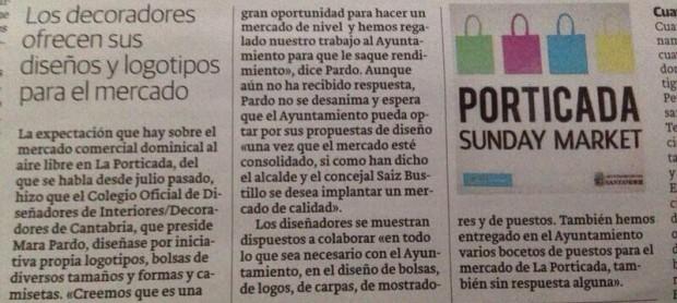 Recorte de prensa del Diario Montañés