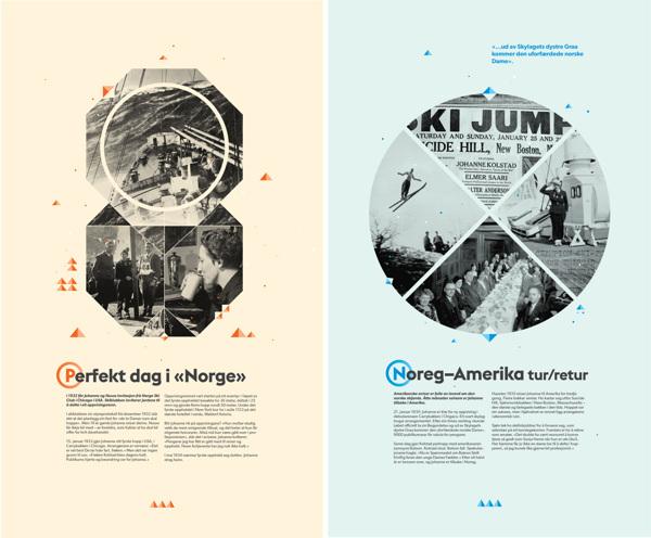 Carteles para la exposición sobre Johanne Kolstad