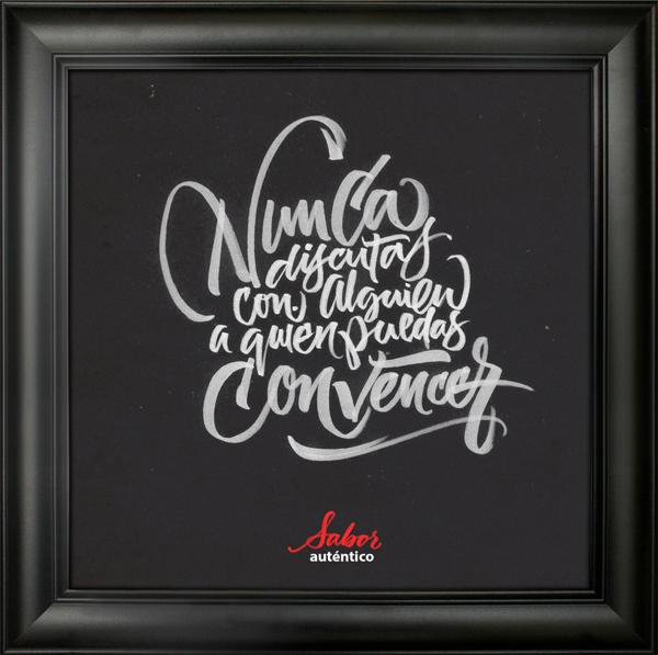 Proyecto caligráfico de Joluvian para Coca-cola Zero España