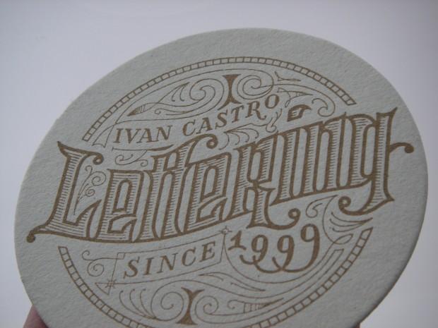 Lettering impreso con Letterpres