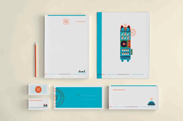 Diseño de la identidad de Merchandwise por Martín Azambuja