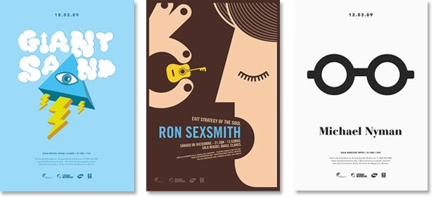 Posters de conciertos realizados durante la temporada 2008 - 2009