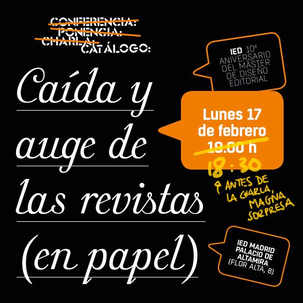 Diego Areso, conferencia Caída y auge de las revistas (de papel) – IED Madrid