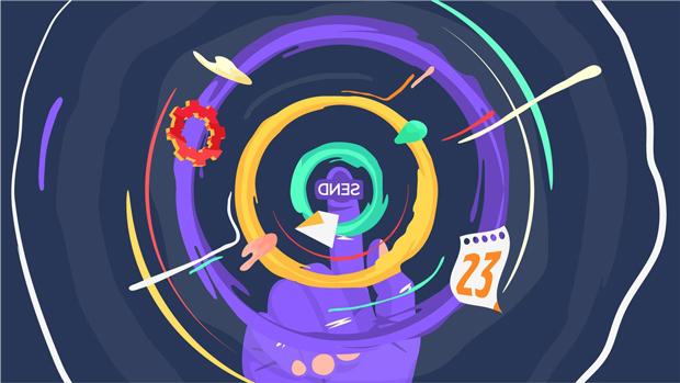 Pause Fest 2014 – frame del ID animado creado por Váscolo