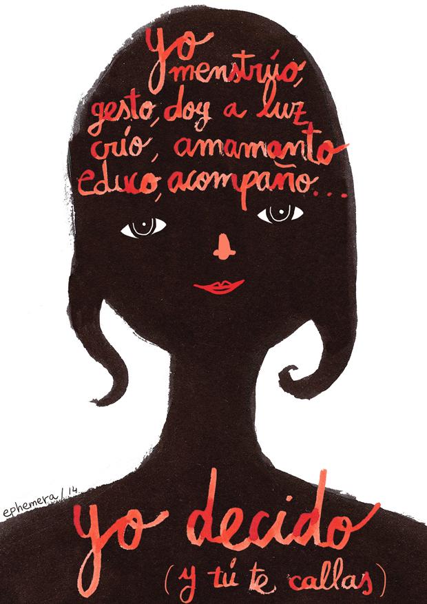 Wombastic ilustración Ángela Carrasco – ilustraciones contra la reforma de la Ley del aborto