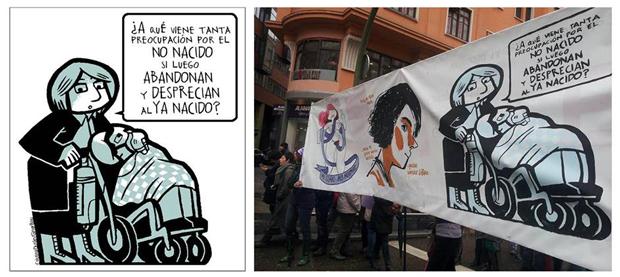 Wombastic Cristina Durán – ilustraciones contra la reforma de la Ley del aborto