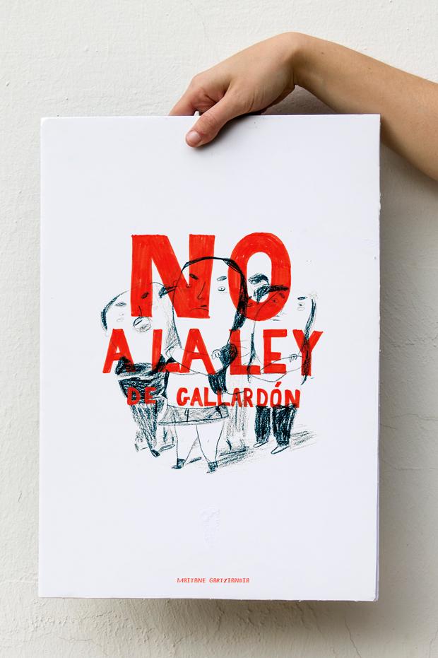 Wombastic cartel Maitane Gartziandia ilustraciones contra la reforma de la Ley del aborto