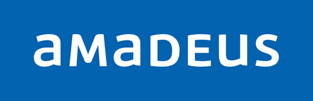 Amadeus nuevo logo en negativo diseño de Interbrand