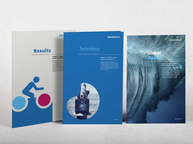 Amadeus diseño brochures por Interbrand