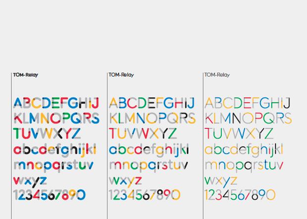 Tipografía Relay – Museo Olímpico