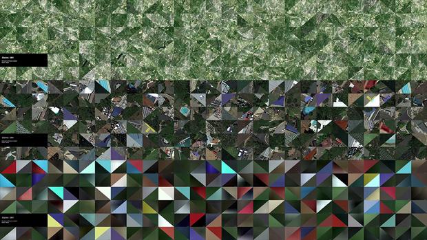 fotograma de la instalación de arte generativo The Color Project
