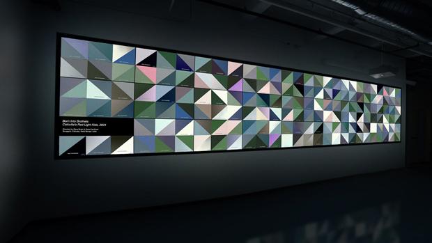 nstalación de arte generativo The Color Project
