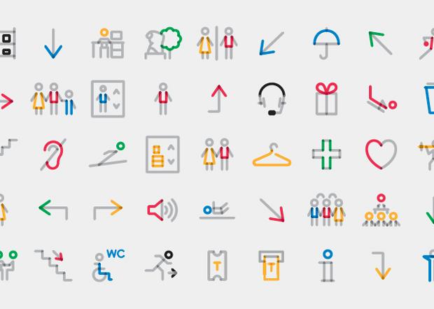 Base Design pictogramas y señalética del Museo Olímpico
