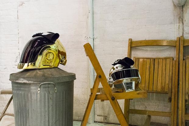 Daft Punk, cascos rodaje spot The Sunday Times