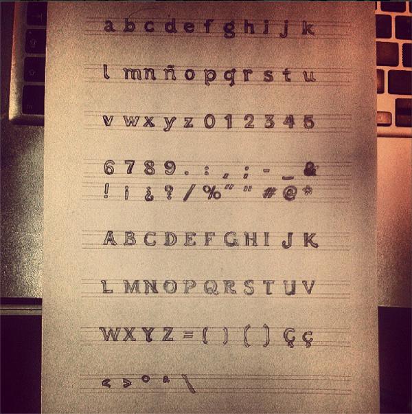 tipografía boceto