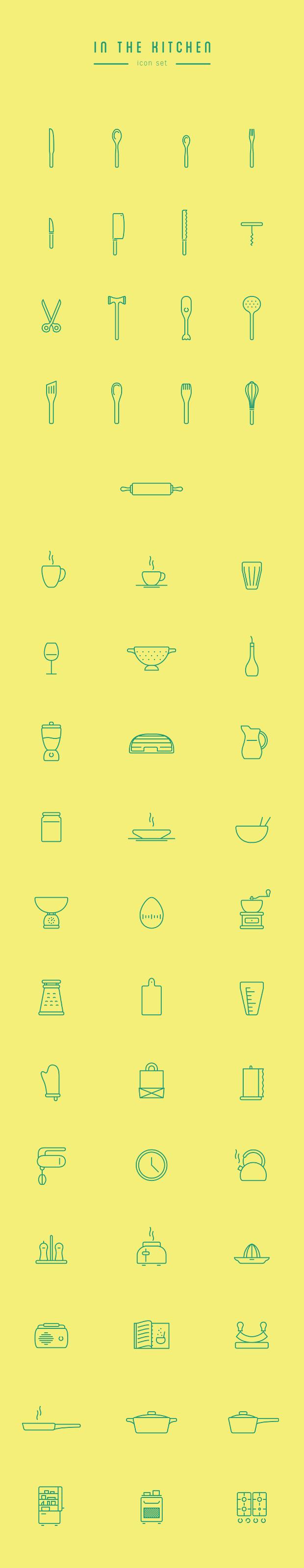 Iconos de cocina en descarga libre
