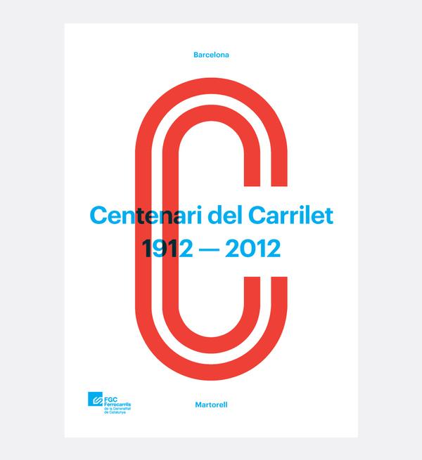 Cartel del Centenario de Carrilet line