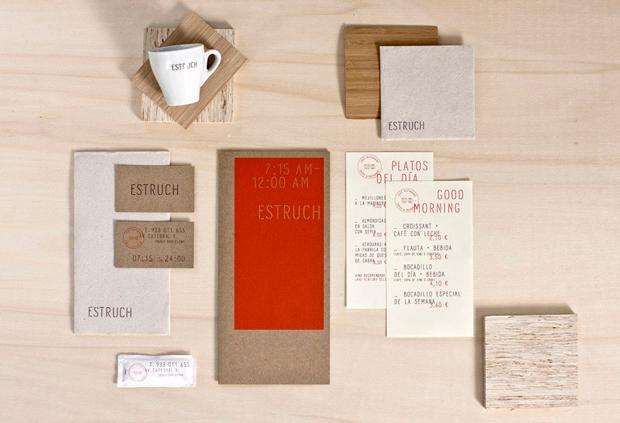 Aplicaciones de la tipografía para la marca Estruch
