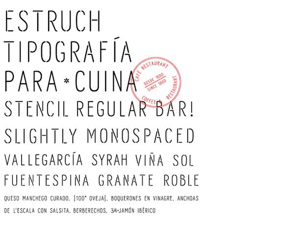 Tipografía para la identidad de Estruch