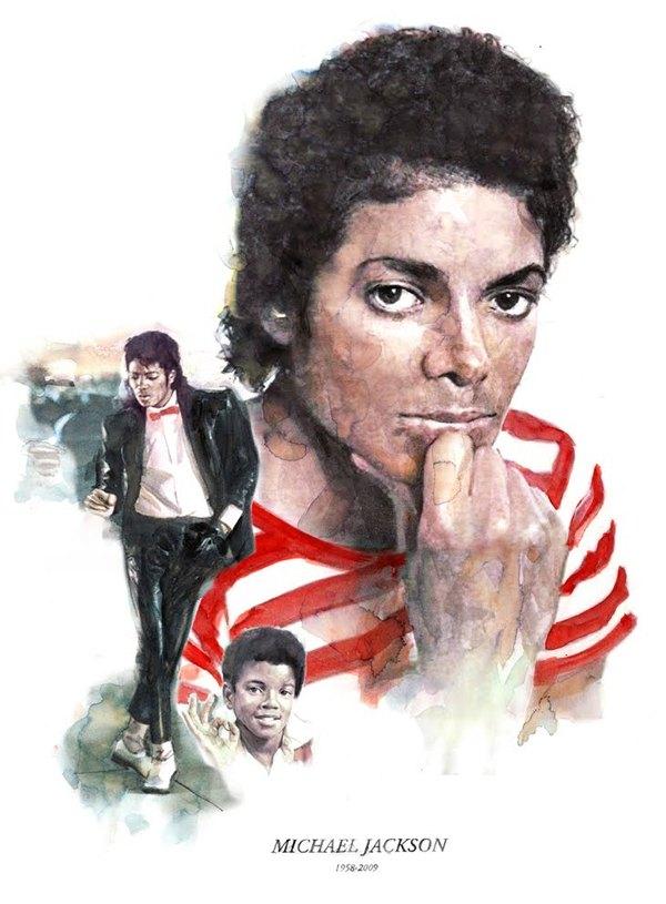 Ilustración Michael Jackson
