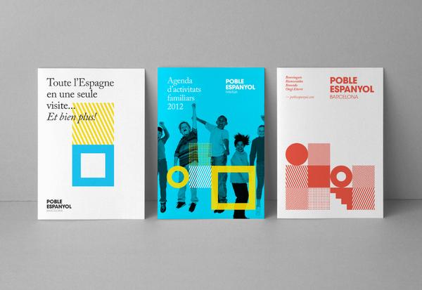 Diseño de identidad para el proyecto 'Poble Espanyol Barcelona'