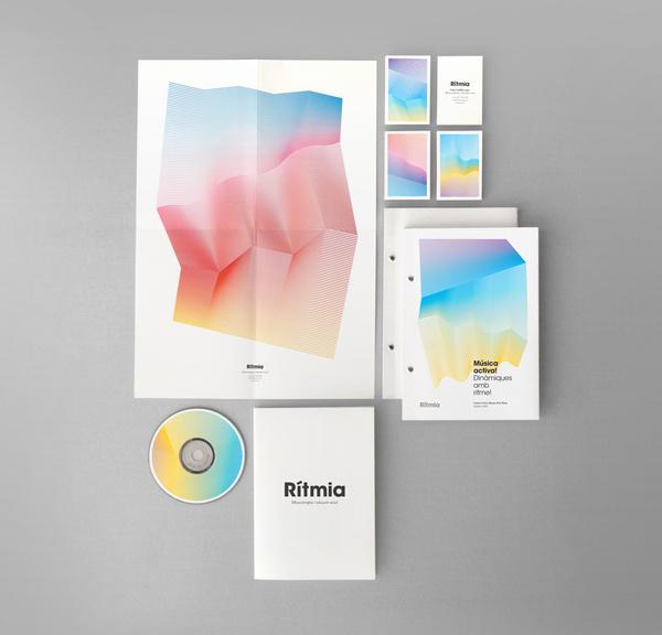 Diseño de identidad corporativa para Rítmia