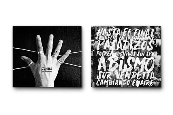 Diseño de portada de disco para Sujetos