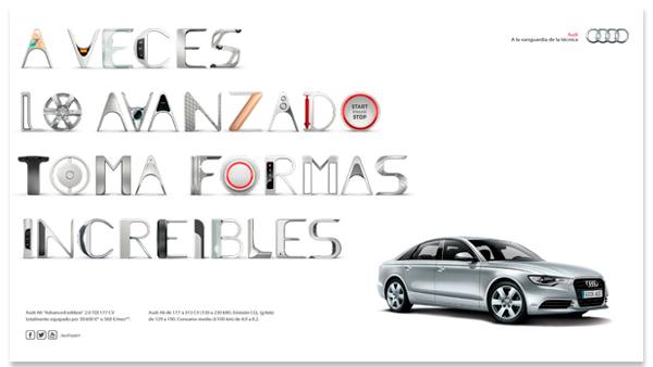 Pieza publicitaria para Audi