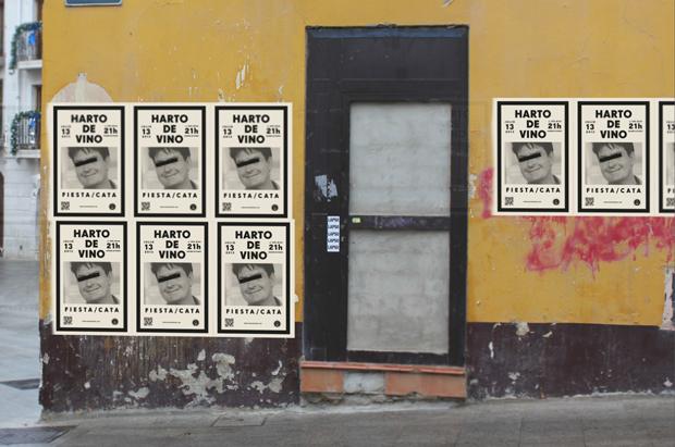 Simulación de los carteles promocionales en la calle