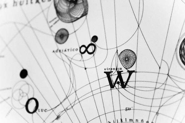 Detalle de la tipografía Cartola
