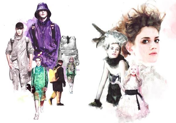 Ilustraciones de moda de Berto Martínez