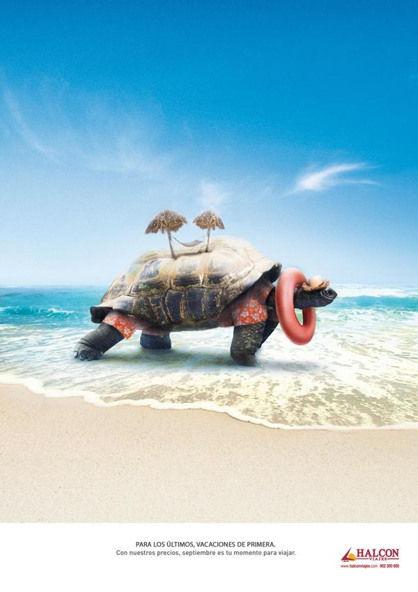 Pieza publicitaria para Halcon viajes
