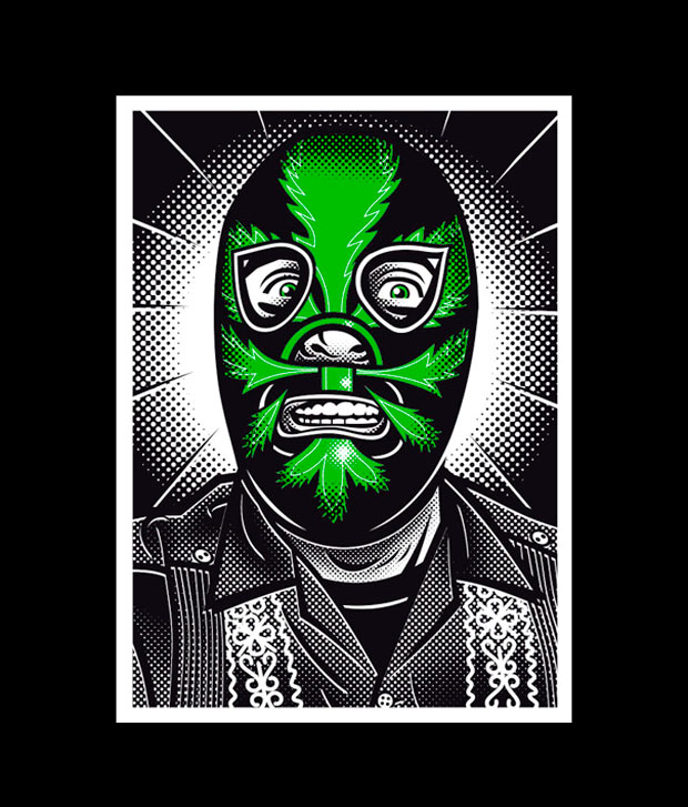 Ilustración de luchador de lucha libre