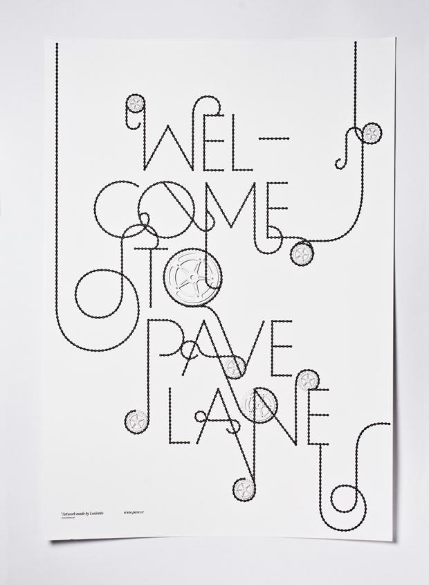 Diseño del cartel para la tienda de bicicletas PaveLane