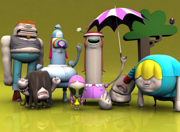 Ojofrito: ilustraciones y personajes en 3D