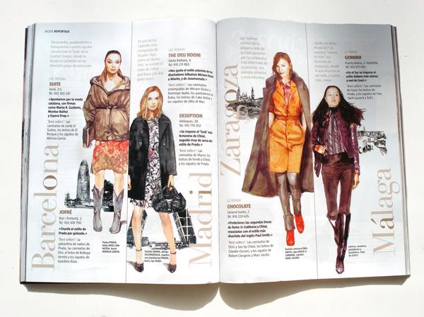 Ilustración para la revista Woman
