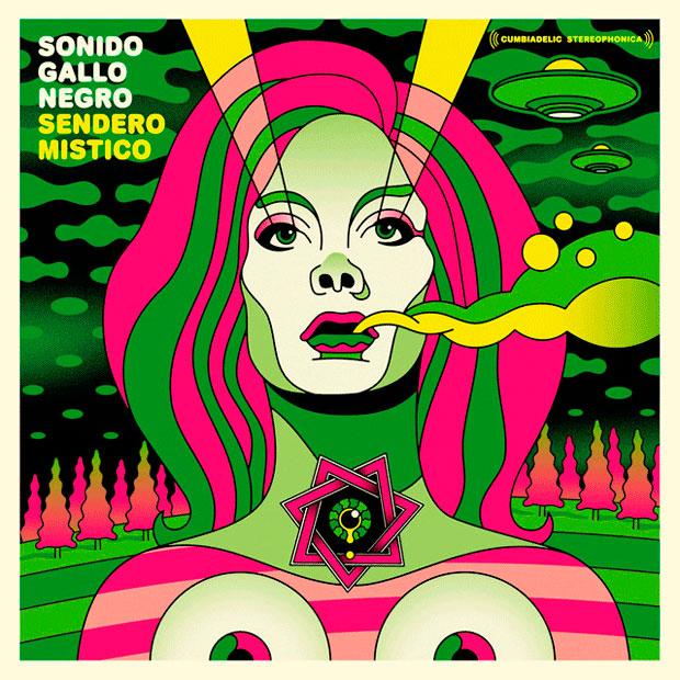 Ilustración de portada de disco diseñado por Jorge Alderete