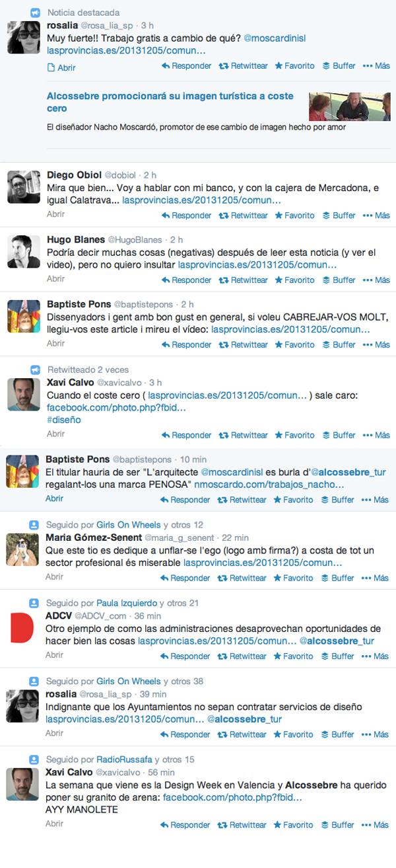 Reacciones en twitter sobre el logo de Nacho Moscardo