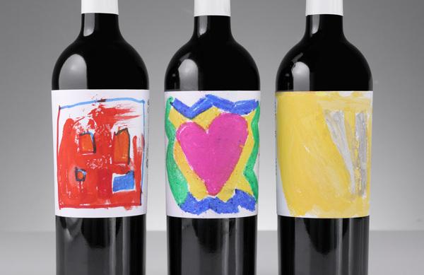 Etiquetas para vino solidario