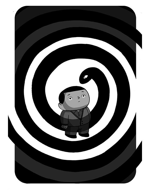 00 Javi de Castro relato HORA DE COMER Ilustrofobia, 17 microrrelatos de miedos y fobias dibujados por Javi de Castro