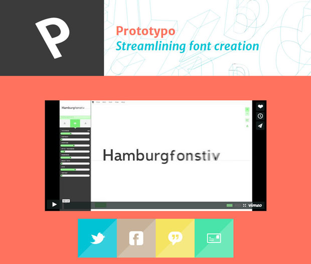 Prototypo – aplicación tipográfica